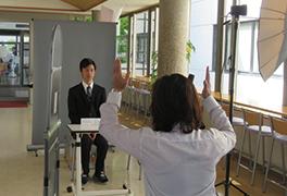 履歴書写真撮影のイメージ