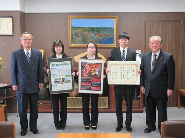 渡辺市長と記念写真